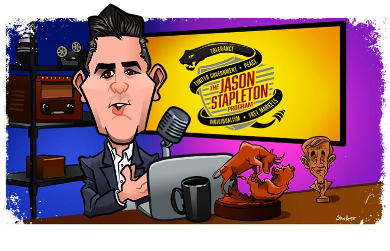 Jason at his desk.
