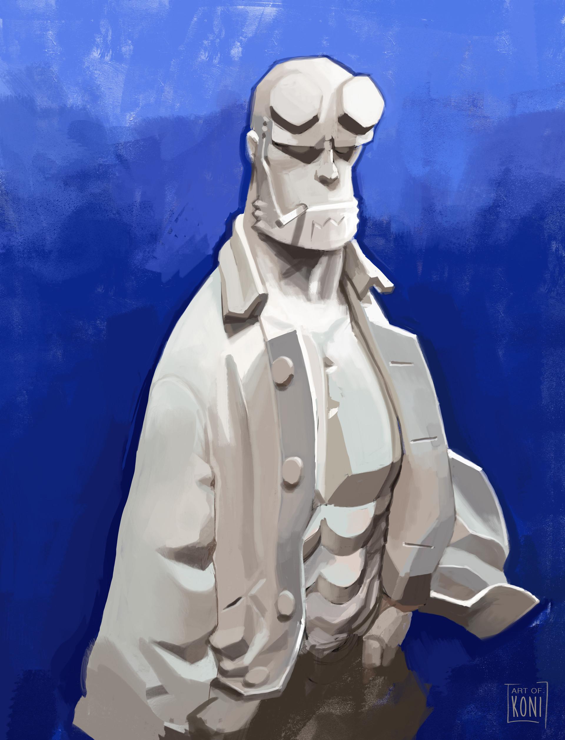 Koni amandine girard hellboy scult by alban ficat hd