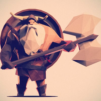 Jona dinges low poly viking