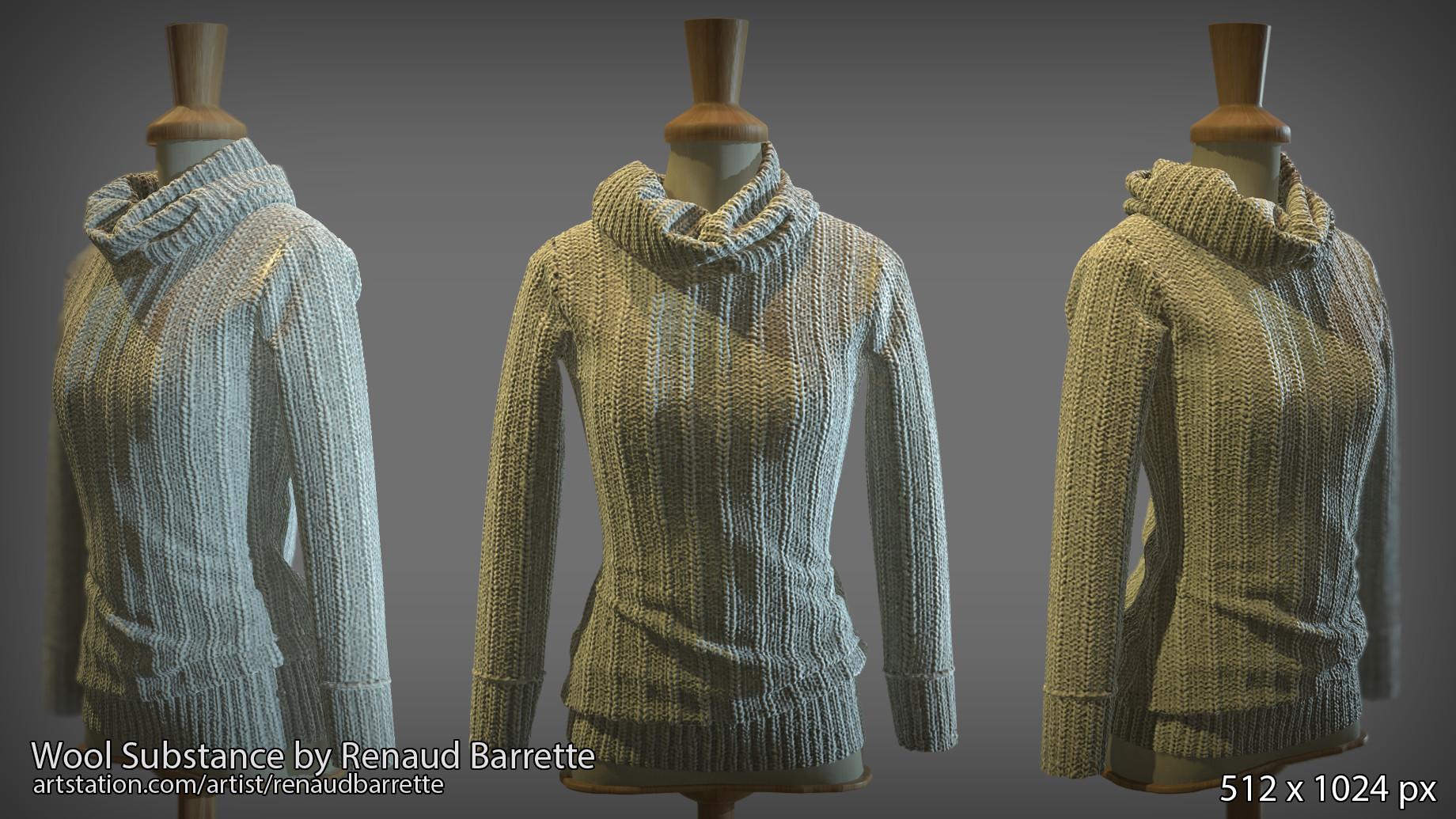 ArtStation - Wool Substance, Renaud Barrette