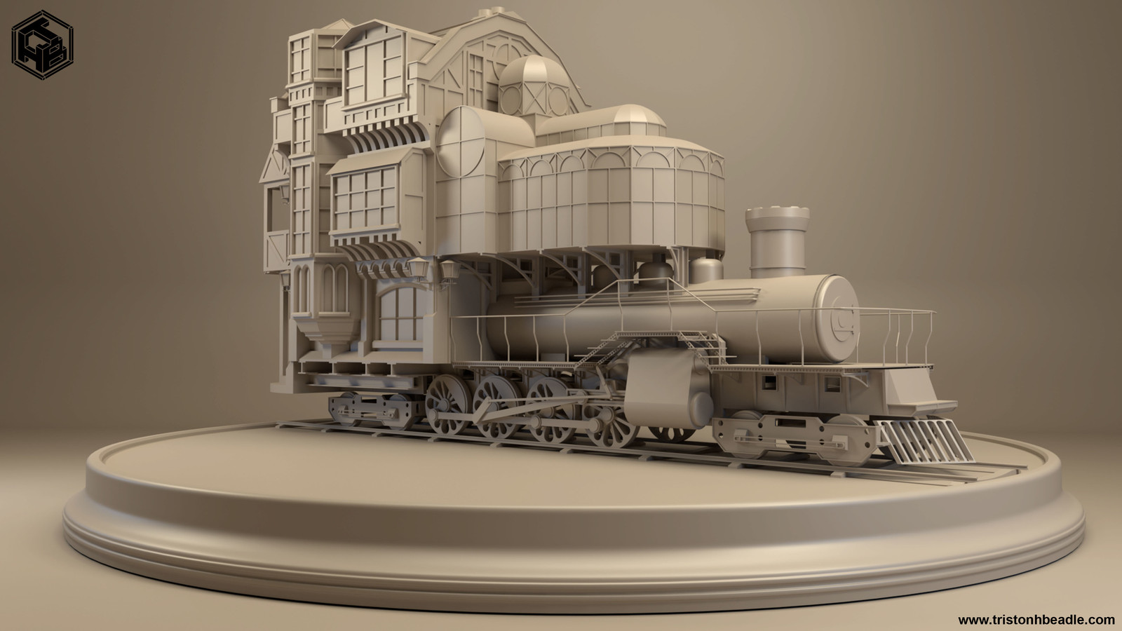 Steampunk train house