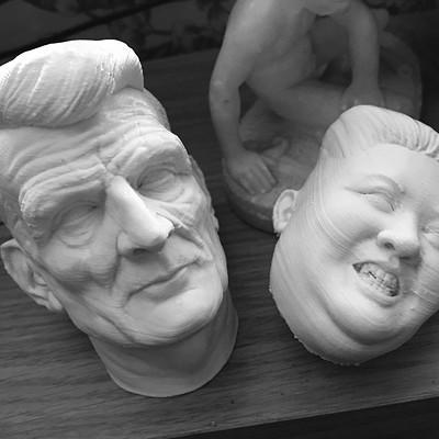 Samuel Beckett 3D print