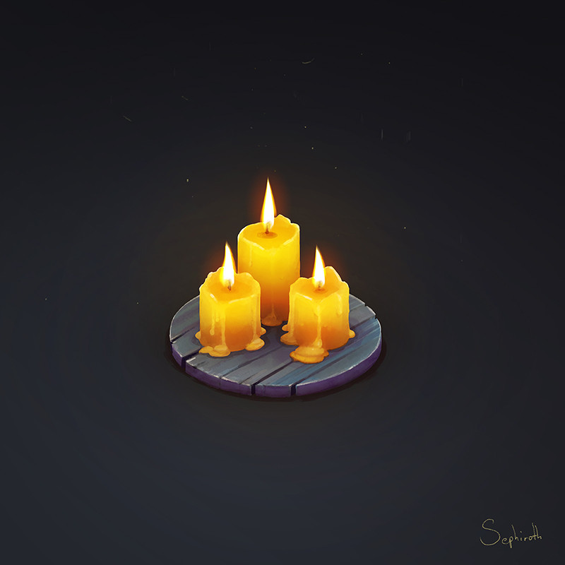 Sephiroth art isometric candle hd
