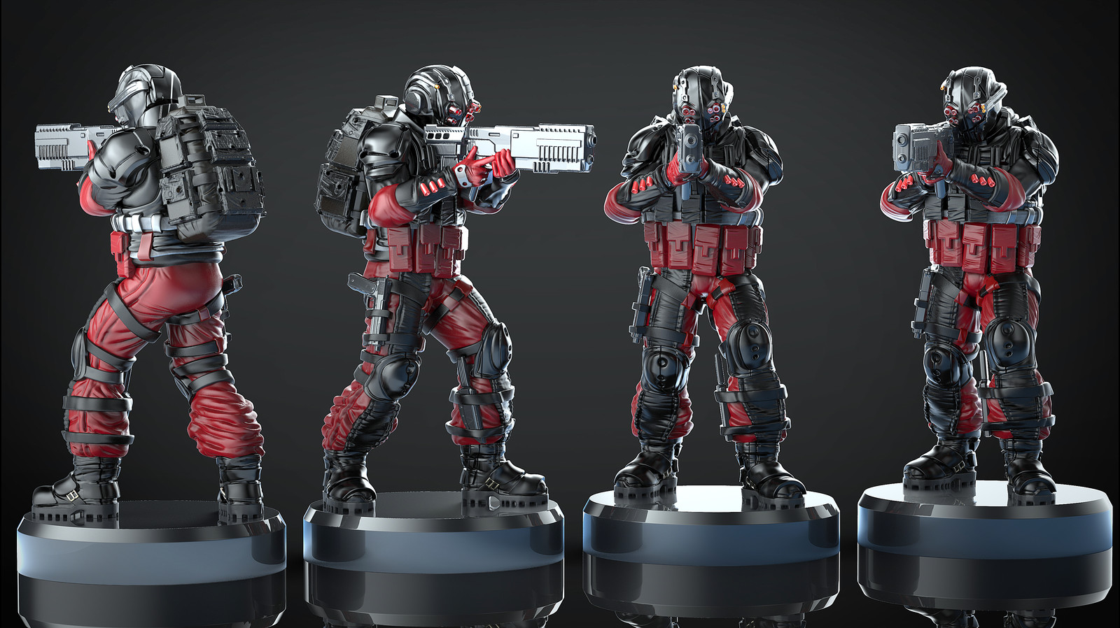 Sci-fi soldier wargame miniature