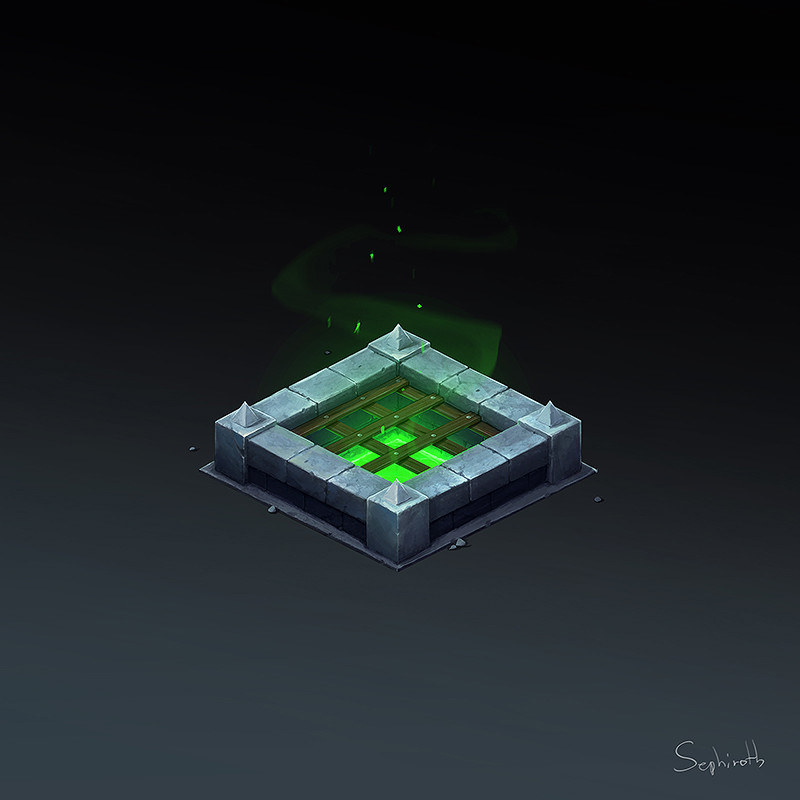 Isometric Poison Well
