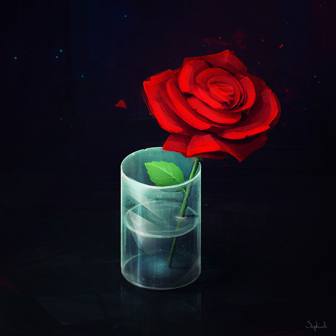 Sephiroth art rose step 02