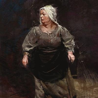 Greg rutkowski medieval lady study 2 1500