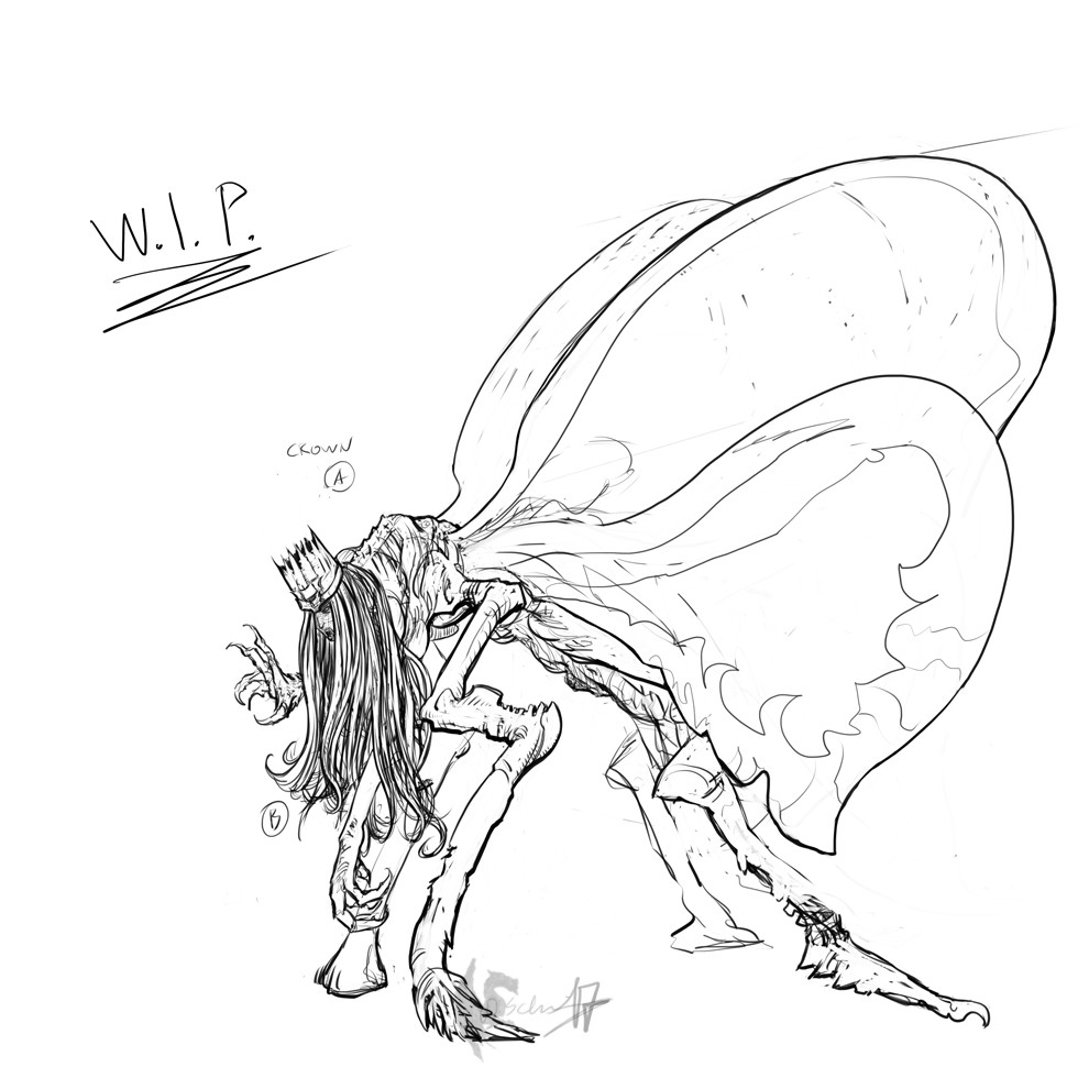 The Corrupted Butterflyqueen - 1st work in progress