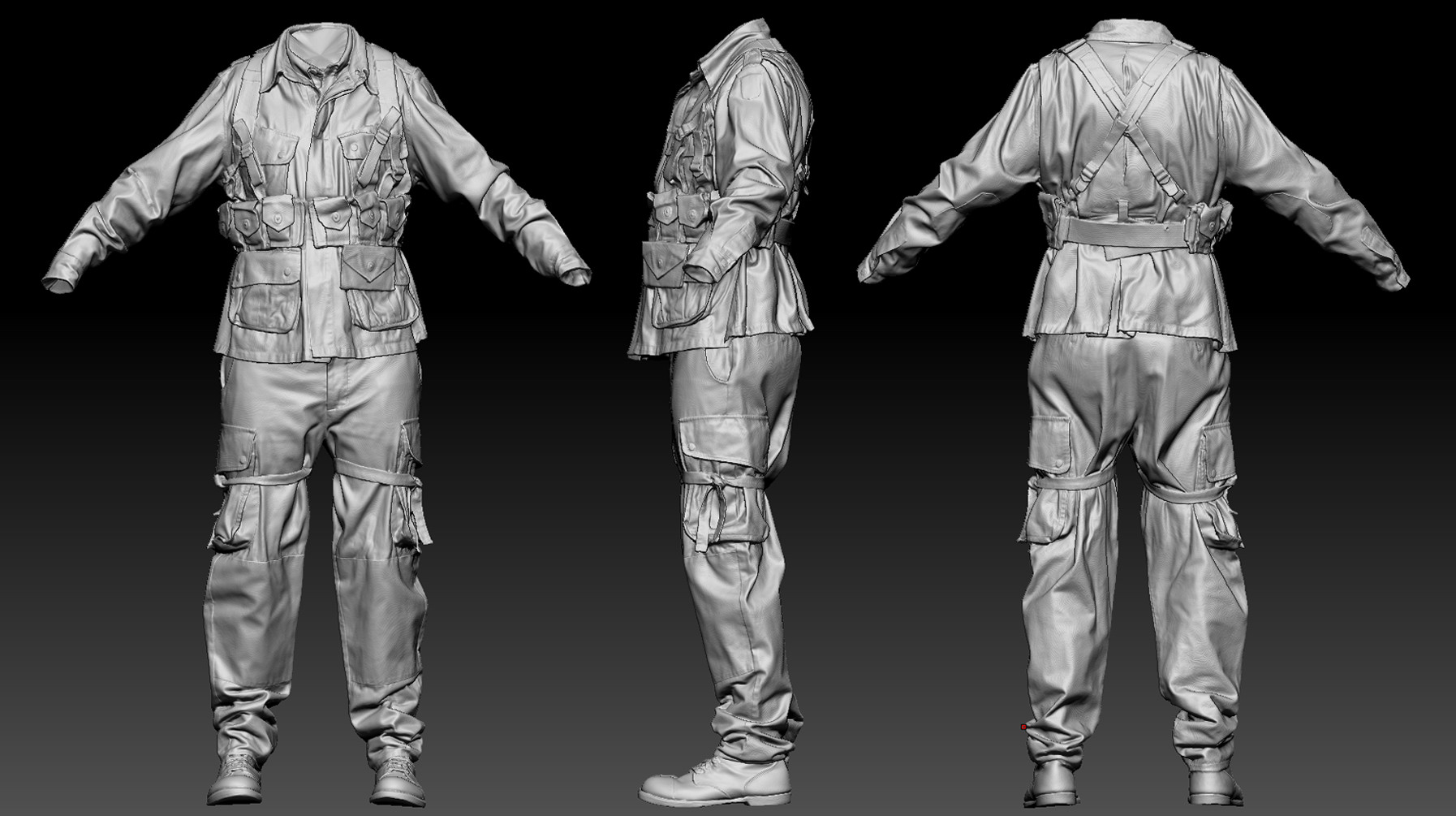 Stirling rank airborne zbrush highpoly