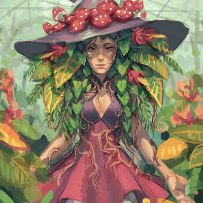 Ester zejn twplants witch painting