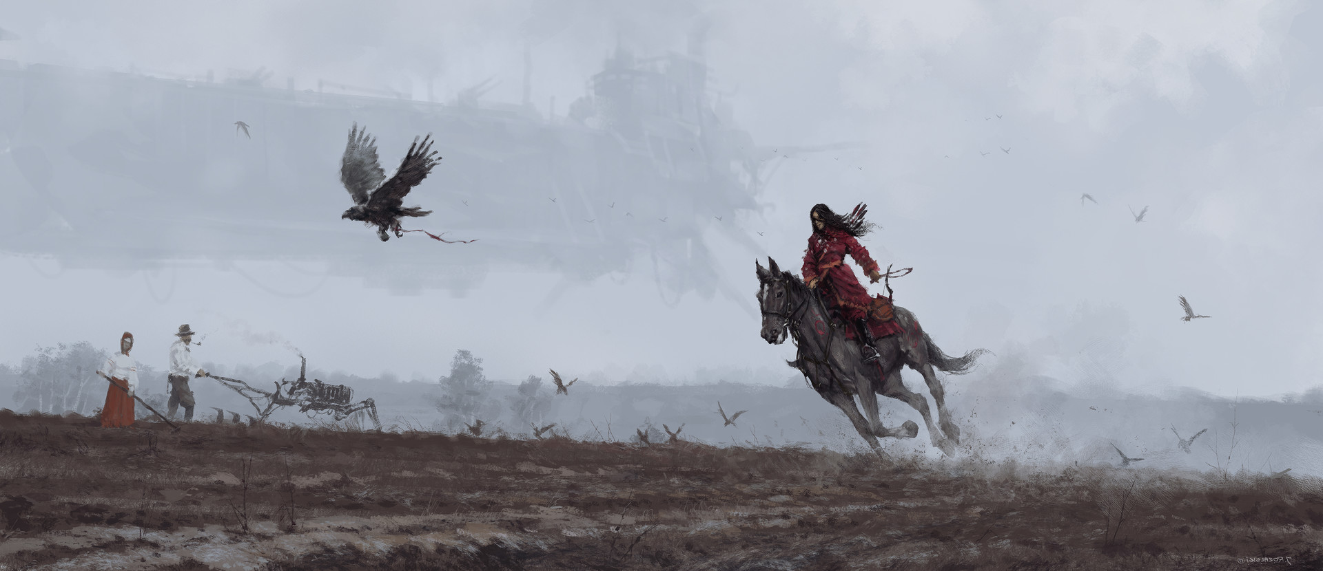 Jakub rozalski 1920 on the wings of the wind