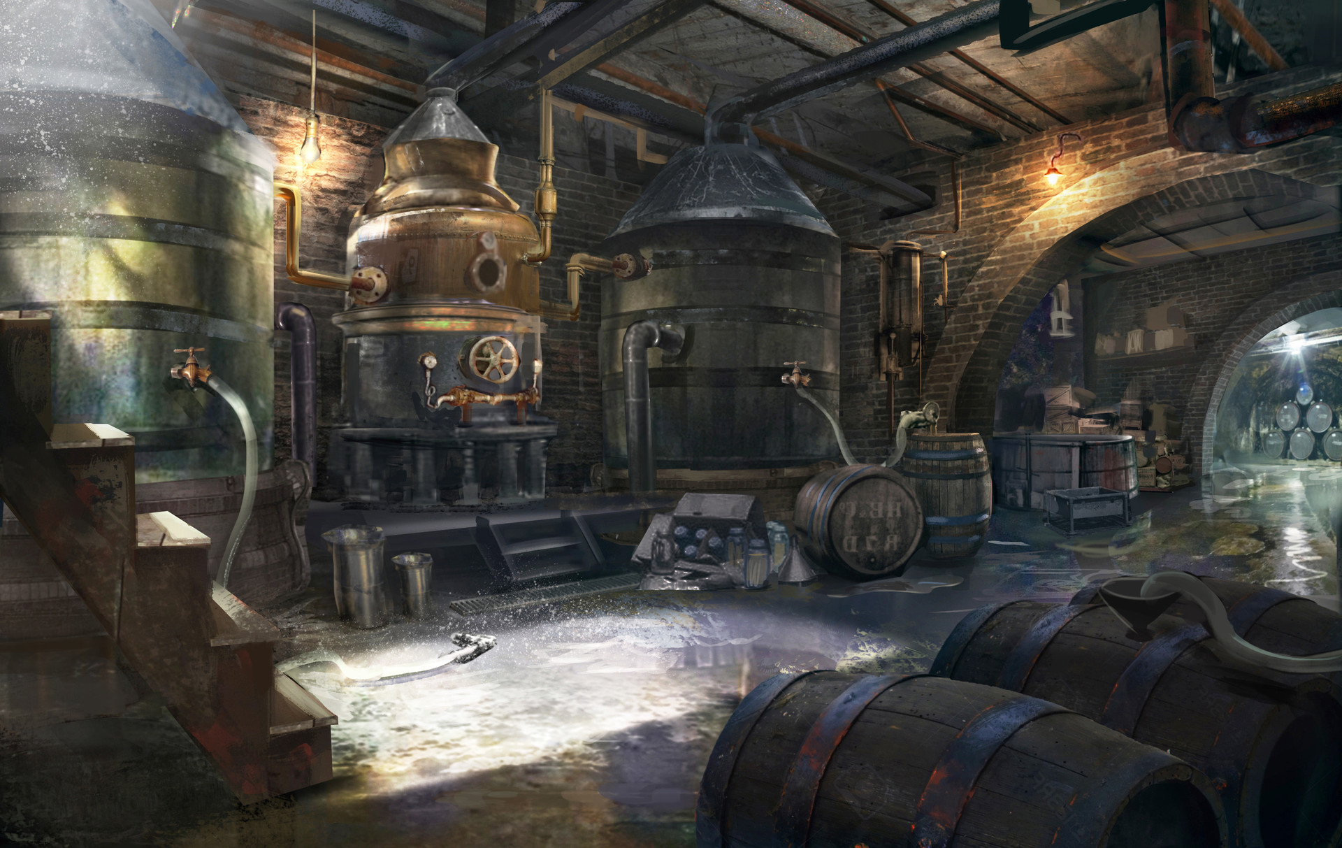 Robin lhebrard c421 distillery sketch2