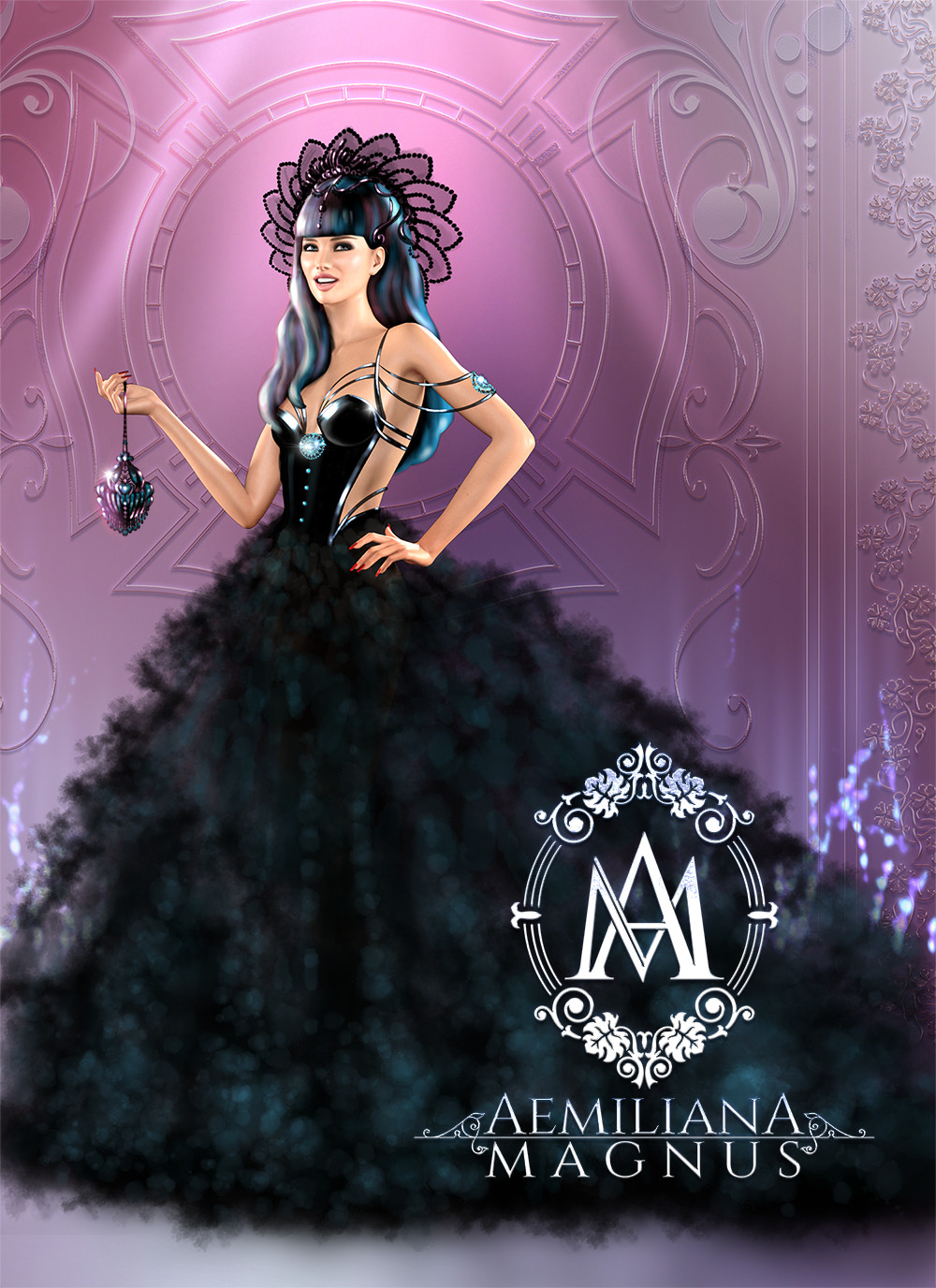 Couture Evening Gown Design by Aemiliana Magnus 2017