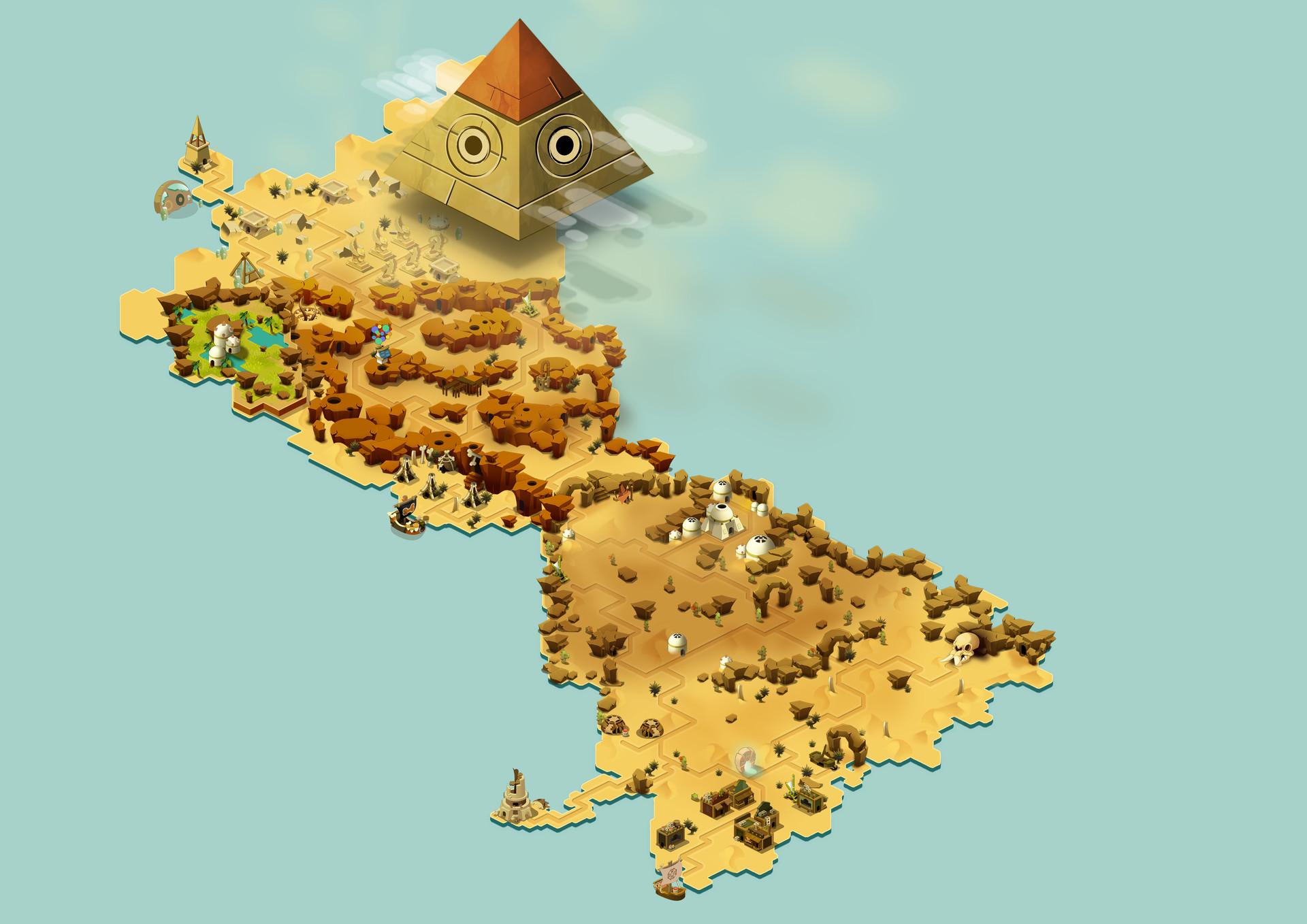 ArtStation - Dofus - World Map Samples, Véronique Guannel
