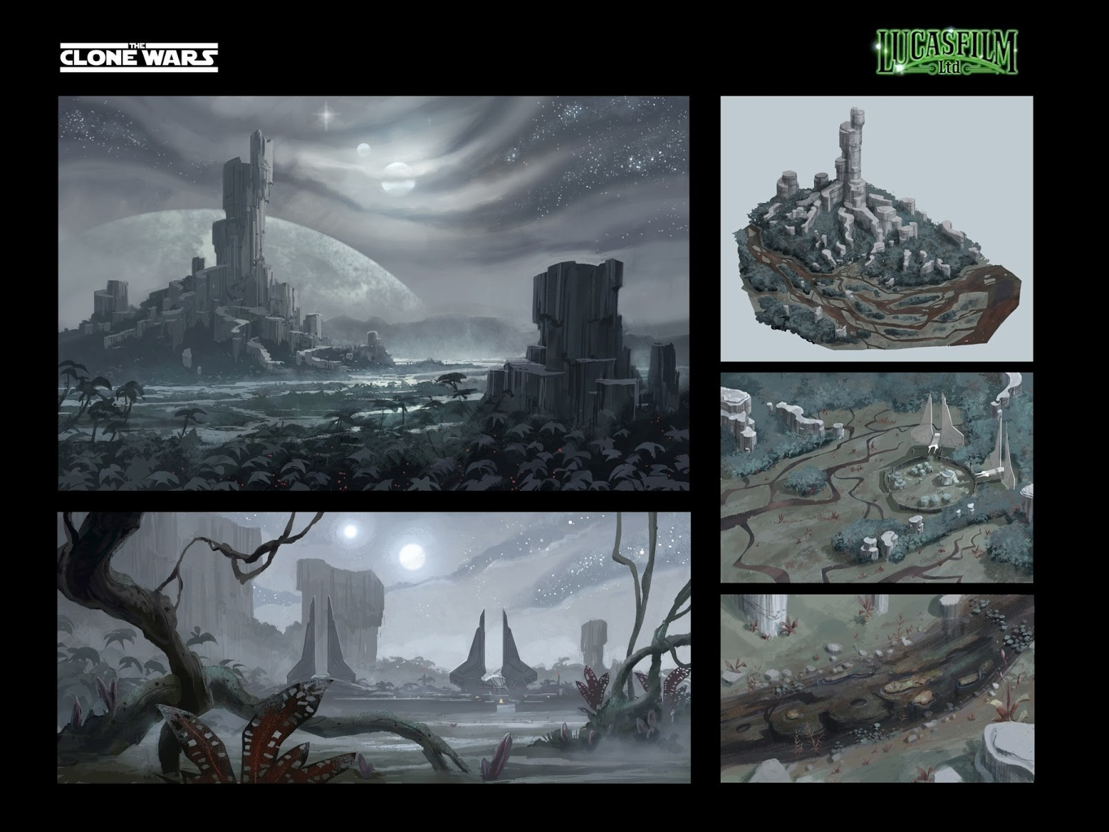 concept arts for Star Wars, the Clone Wars (2008-2012)