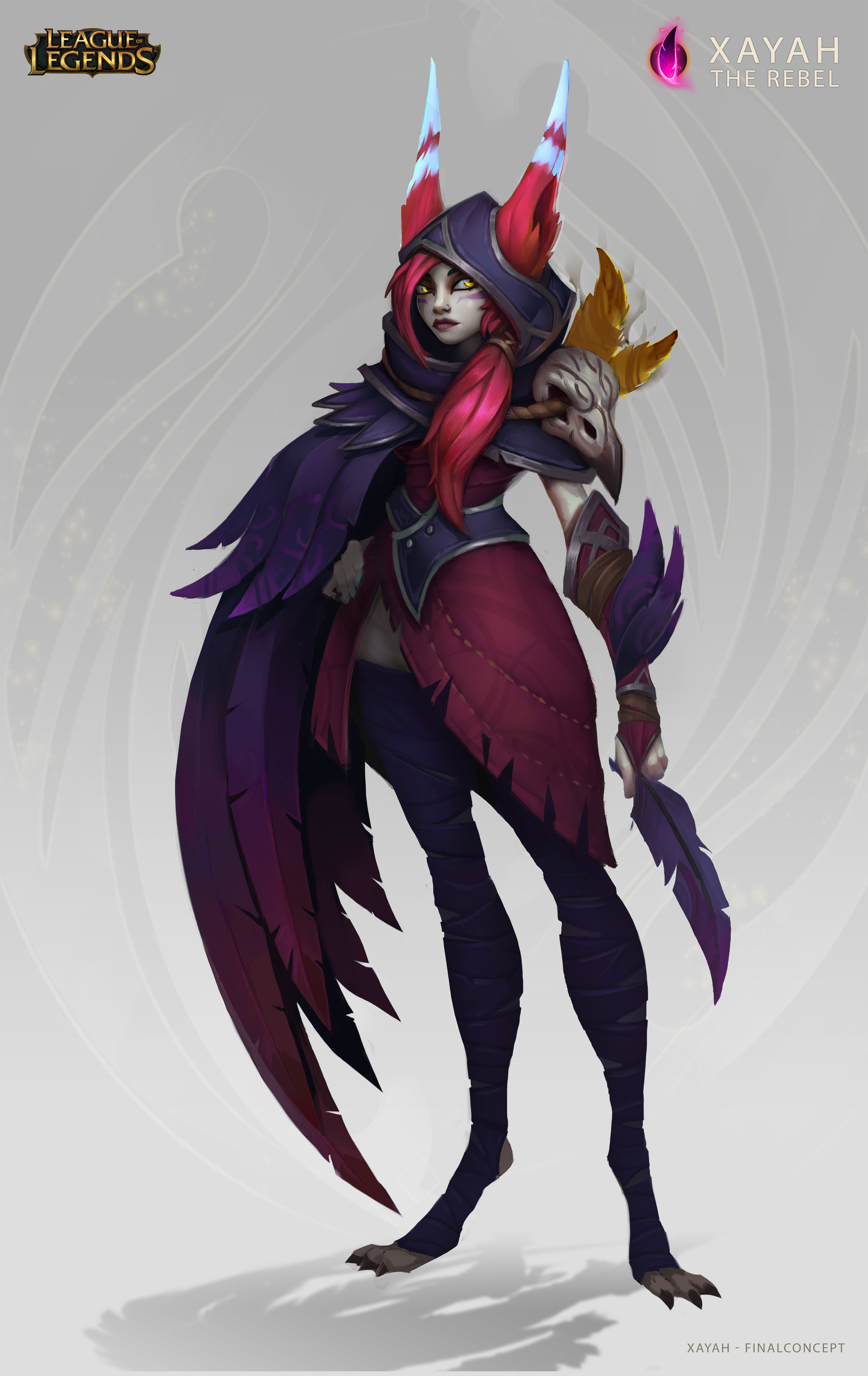 Final color/design concept for Xayah