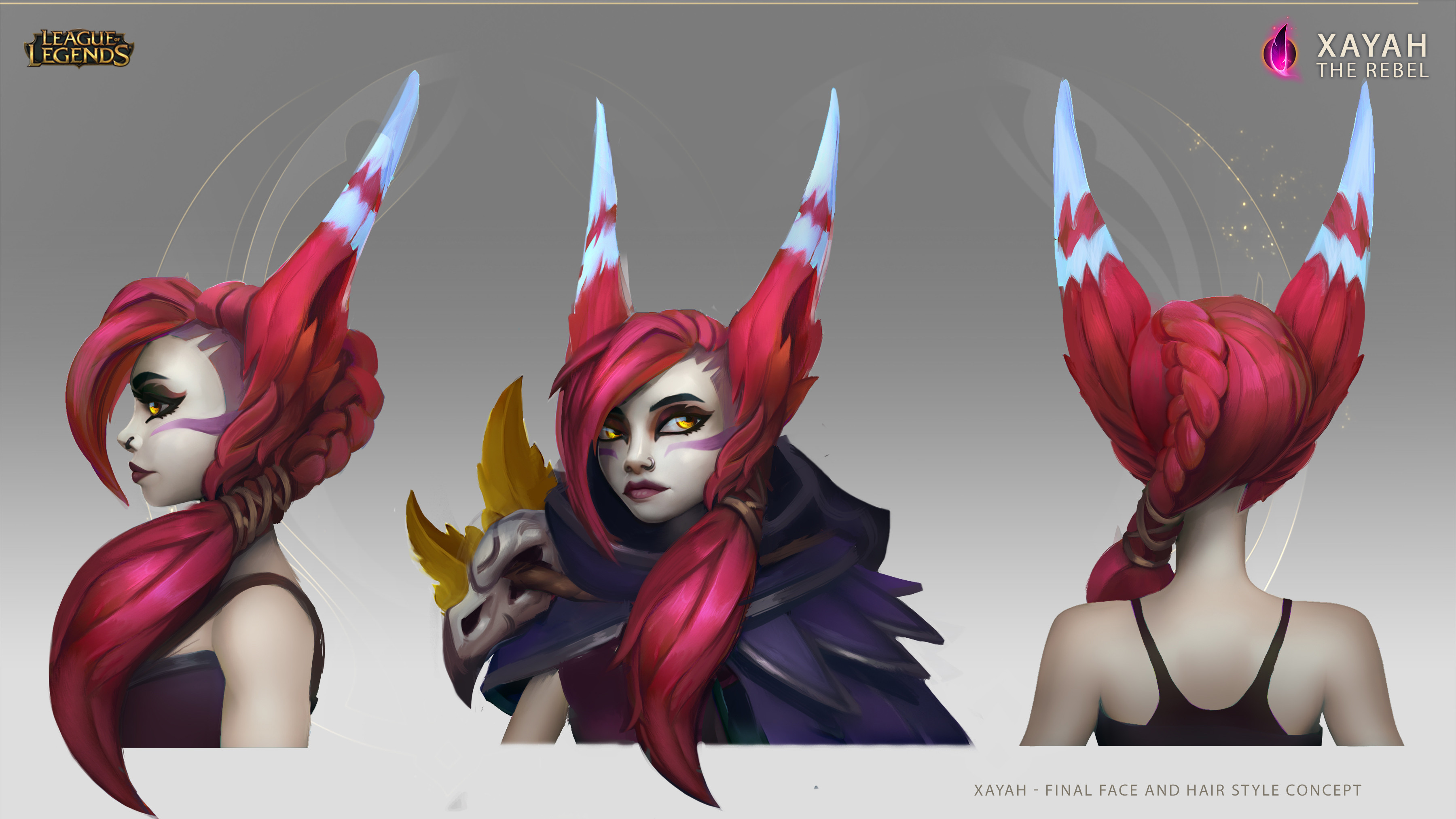 Final face design and hair style