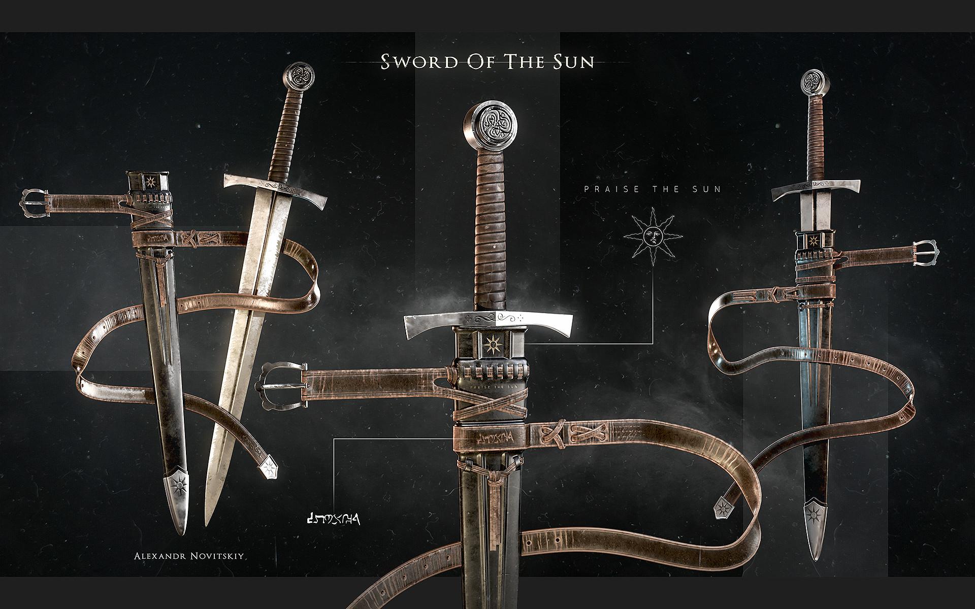 Alexandr novitskiy dark knight sword 01