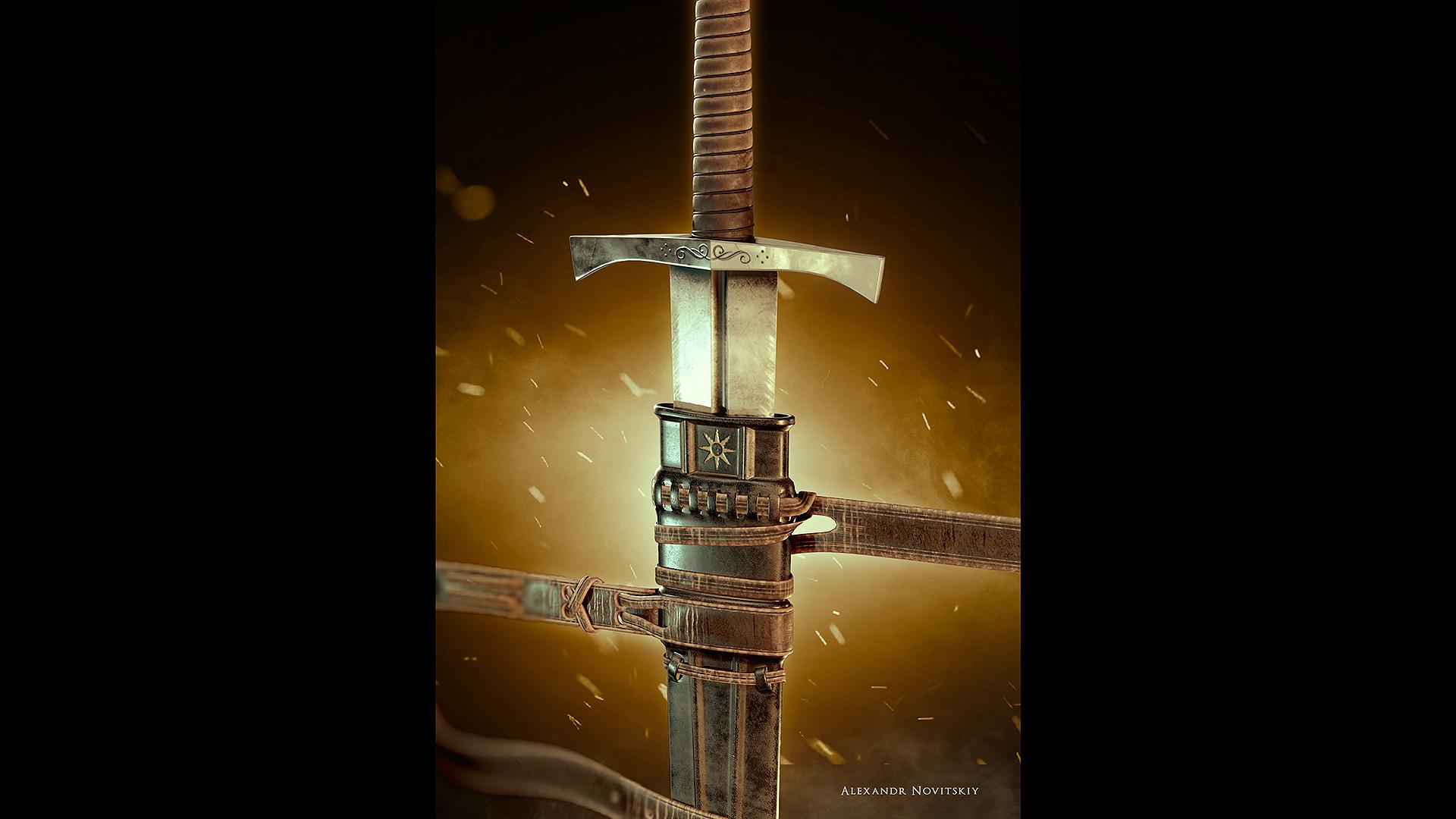 Alexandr novitskiy dark knight sword var 03