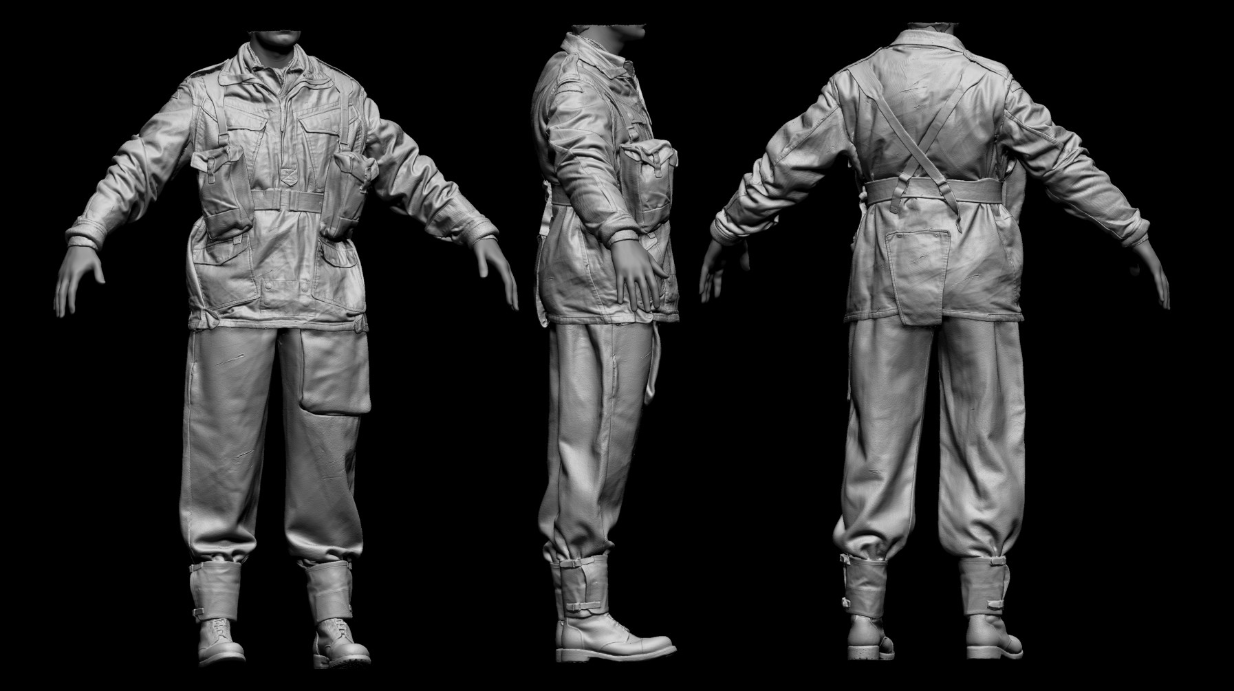 Stirling rank paratrooper zbrush highpoly 2