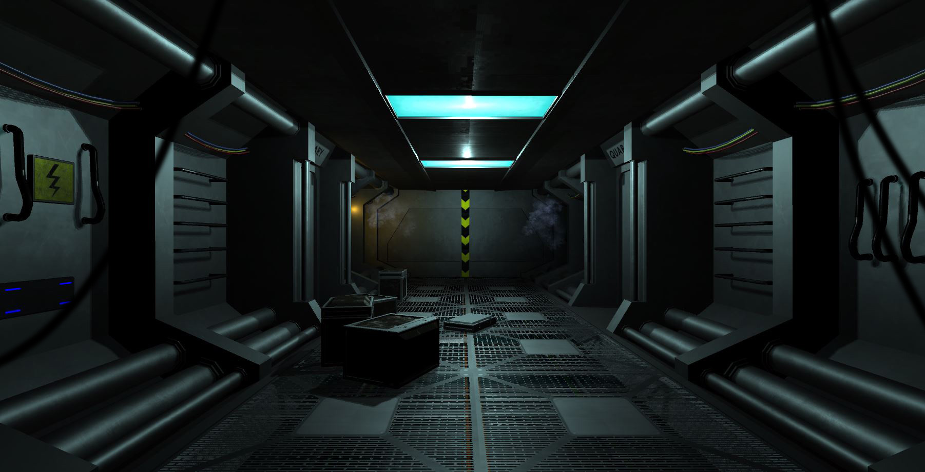 Andrew capps spaceship corridor for Hallway photos