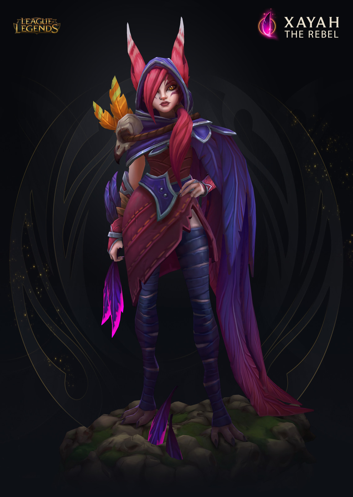 Xayah the Rebel - Ingame model - League of Legends