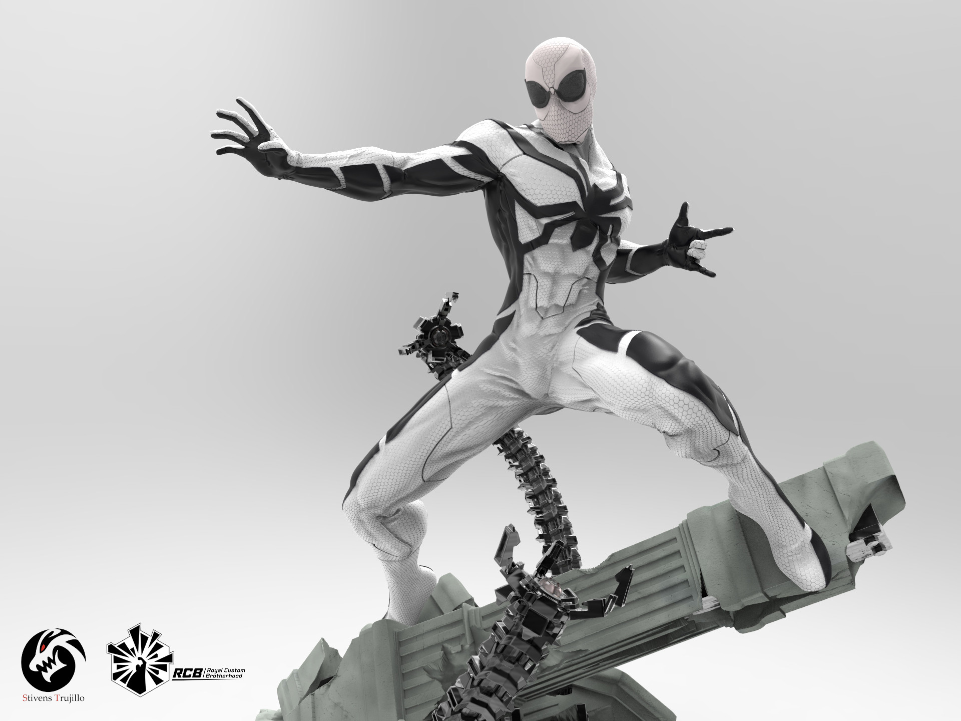 Artstation Spiderman Future Foundation 1 4 Scale Statue Stivens