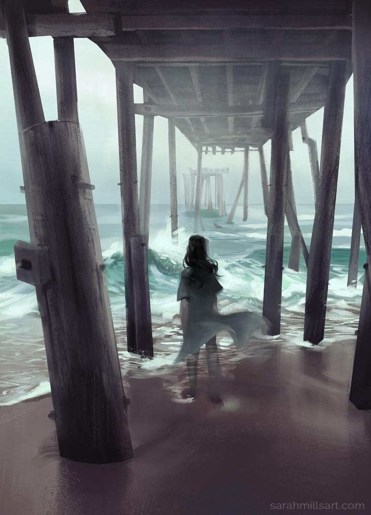 ArtStation - Alone & The Sea, Sarah Mills