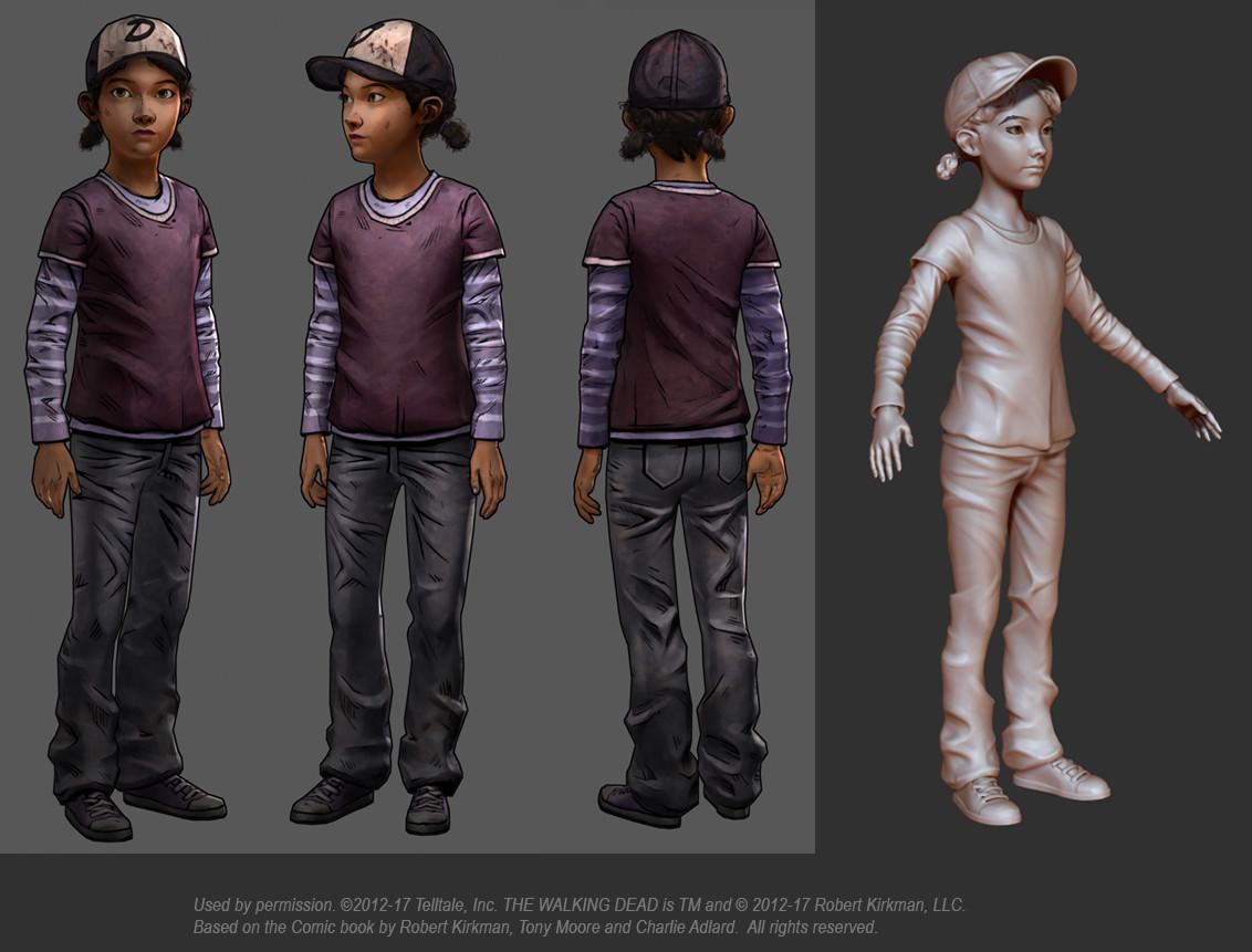 Artstation Clementine From Telltales Walking Dead Series