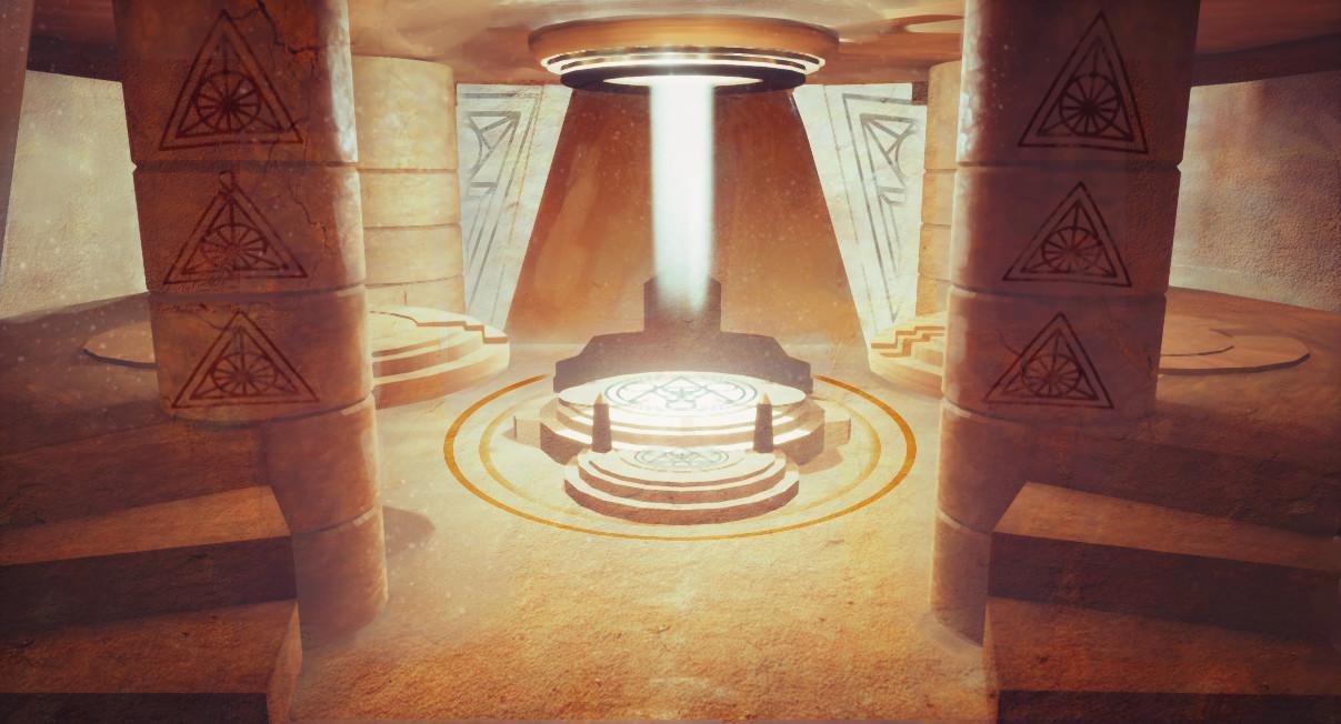 Sun temple interior concept