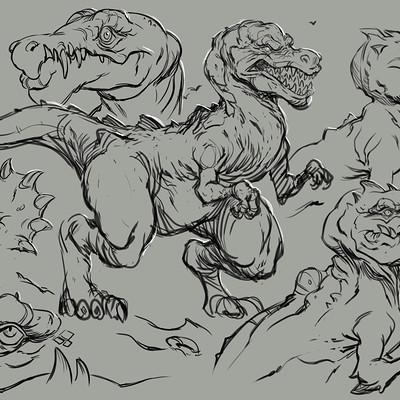Ryan harasym dino sketches