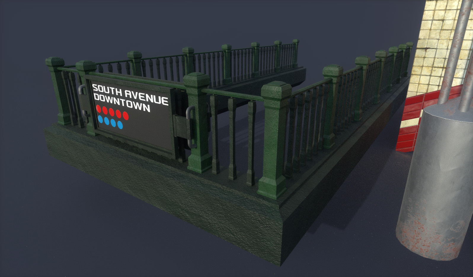 Subway Entrance Guard Rail