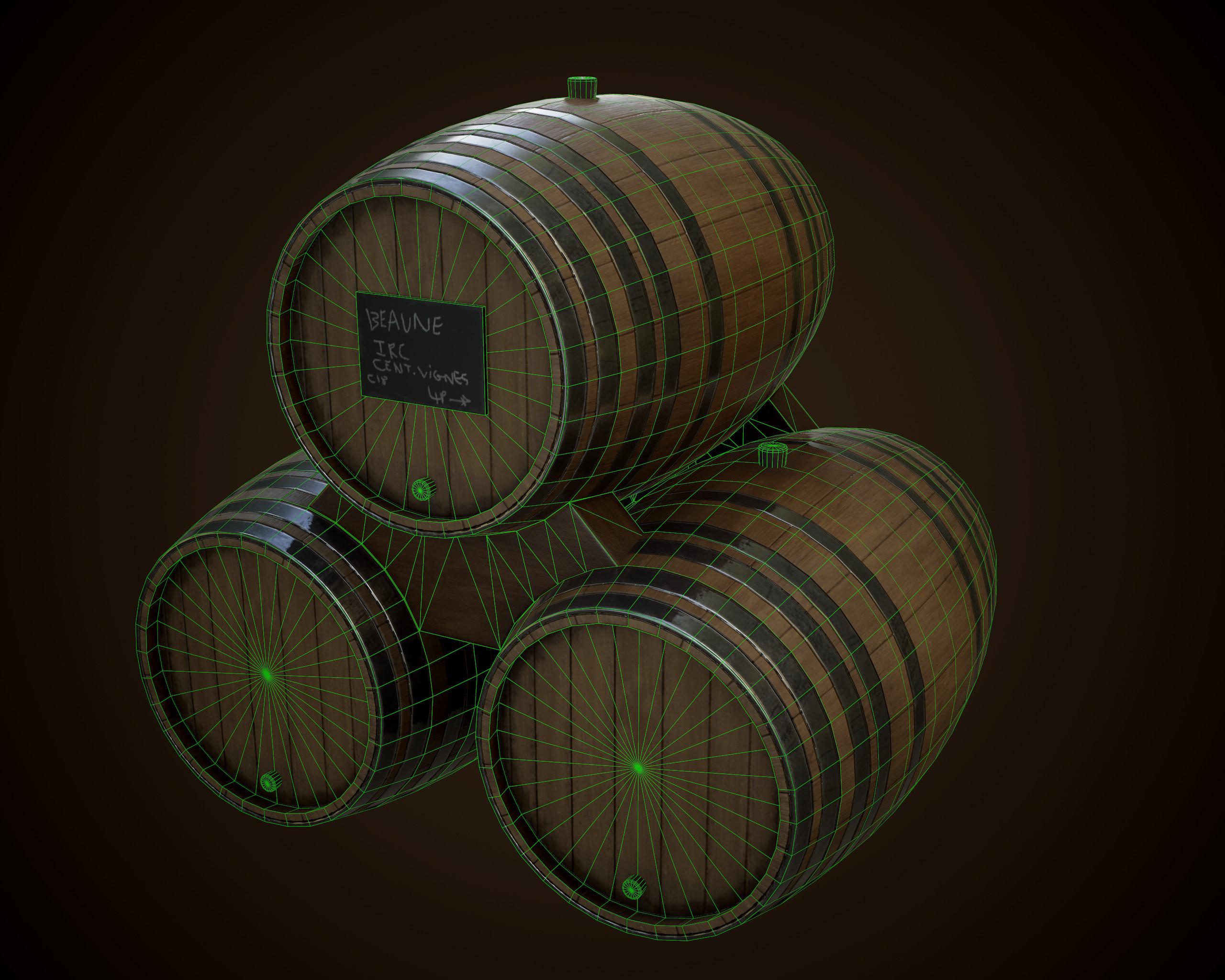Wine Barrels Wireframe