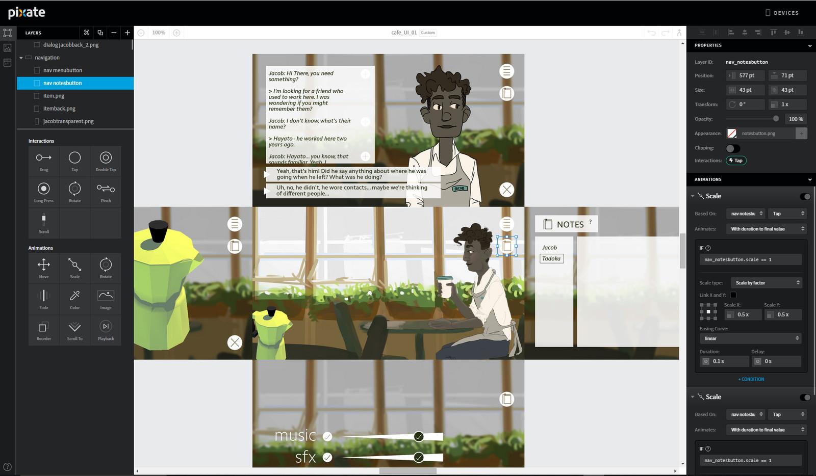 creating a UI demo in Pixate (RIP)