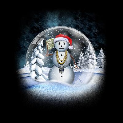 Roger kenerly ii snowman snow globe artstation