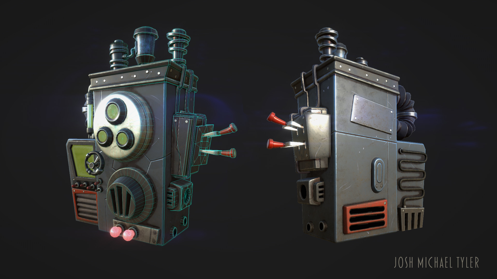 Materials and lighting in Substance Painter.