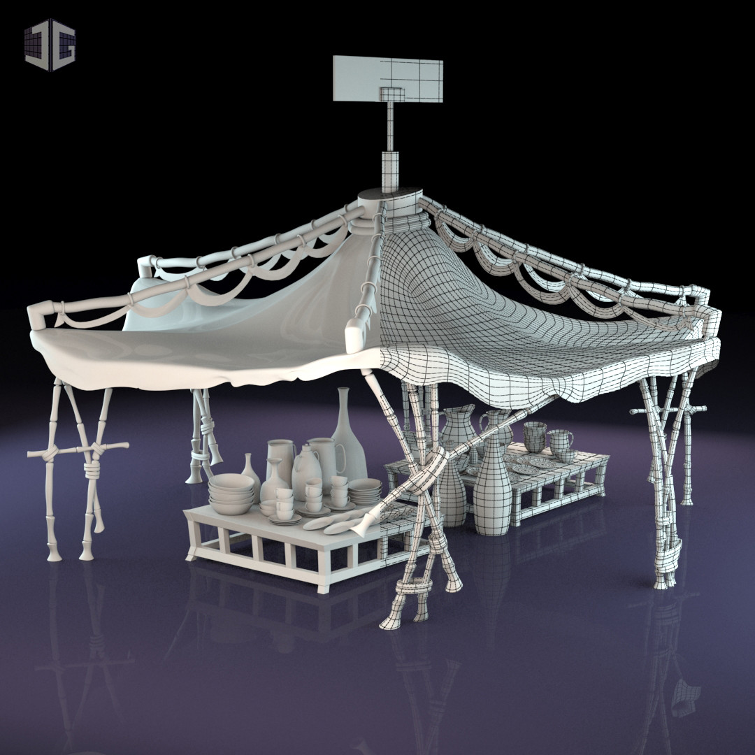 Tents (Quackerz 2016) - Modeling + UV Mapping. Jordi Garcia & ArtStation - Tents (Quackerz 2016)  Jordi Garcia