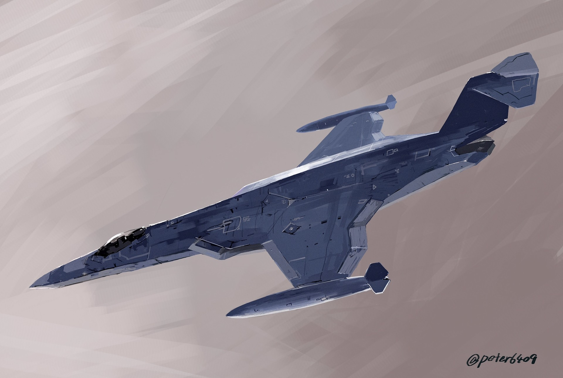 stealthy F-104