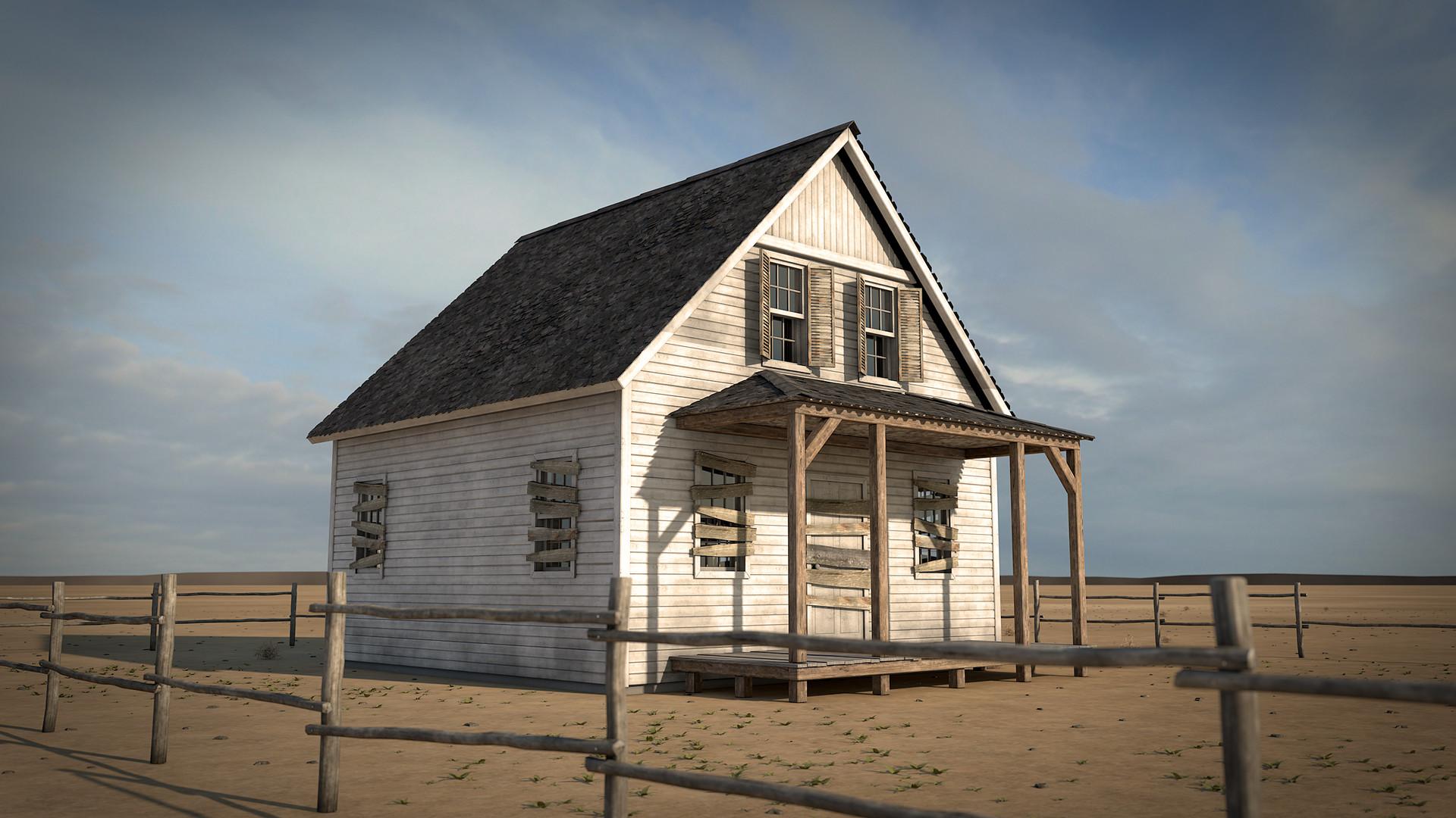 Dmitry Kopeykin - Abandoned House - Free Project (Cinema 4D)