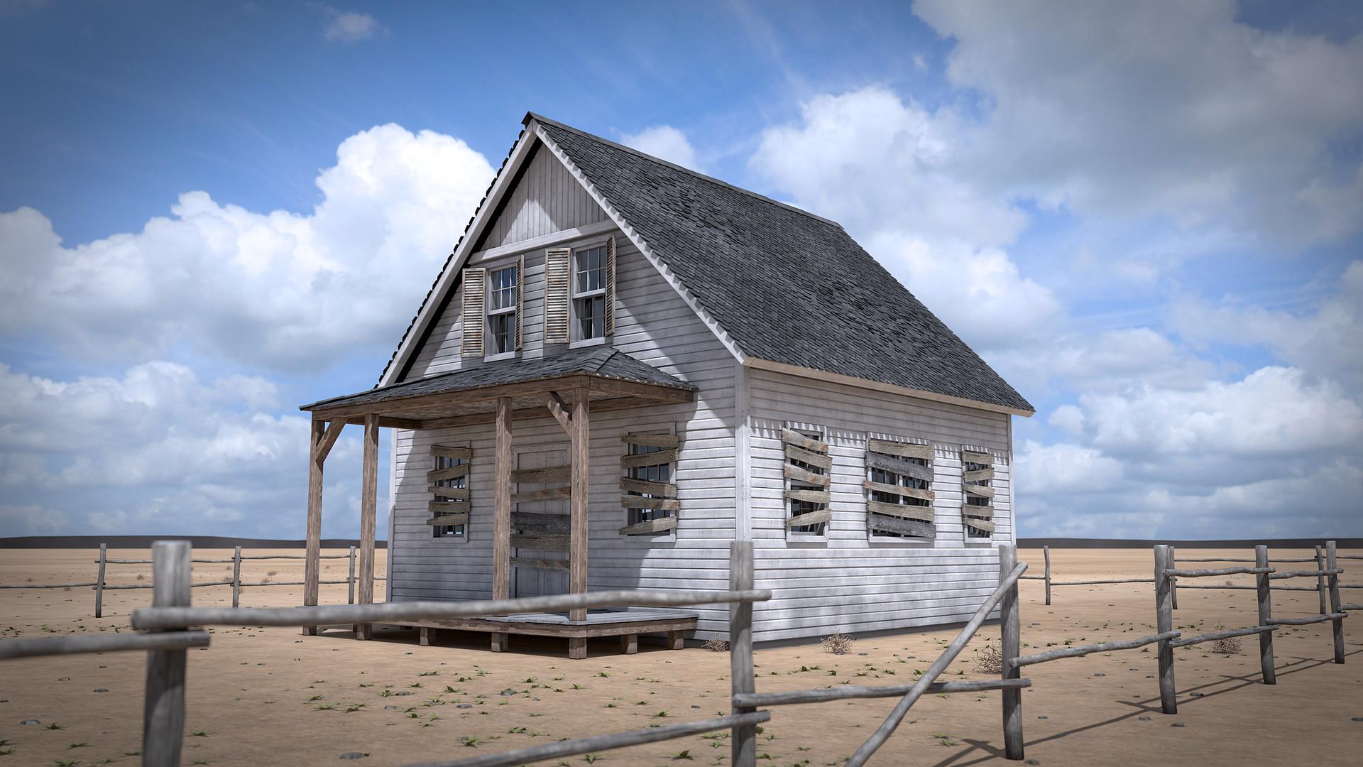 ArtStation - Abandoned House - Free Project (Cinema 4D