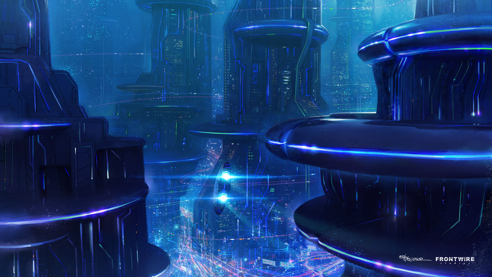Galaxy in Turmoil Environment Concept Art