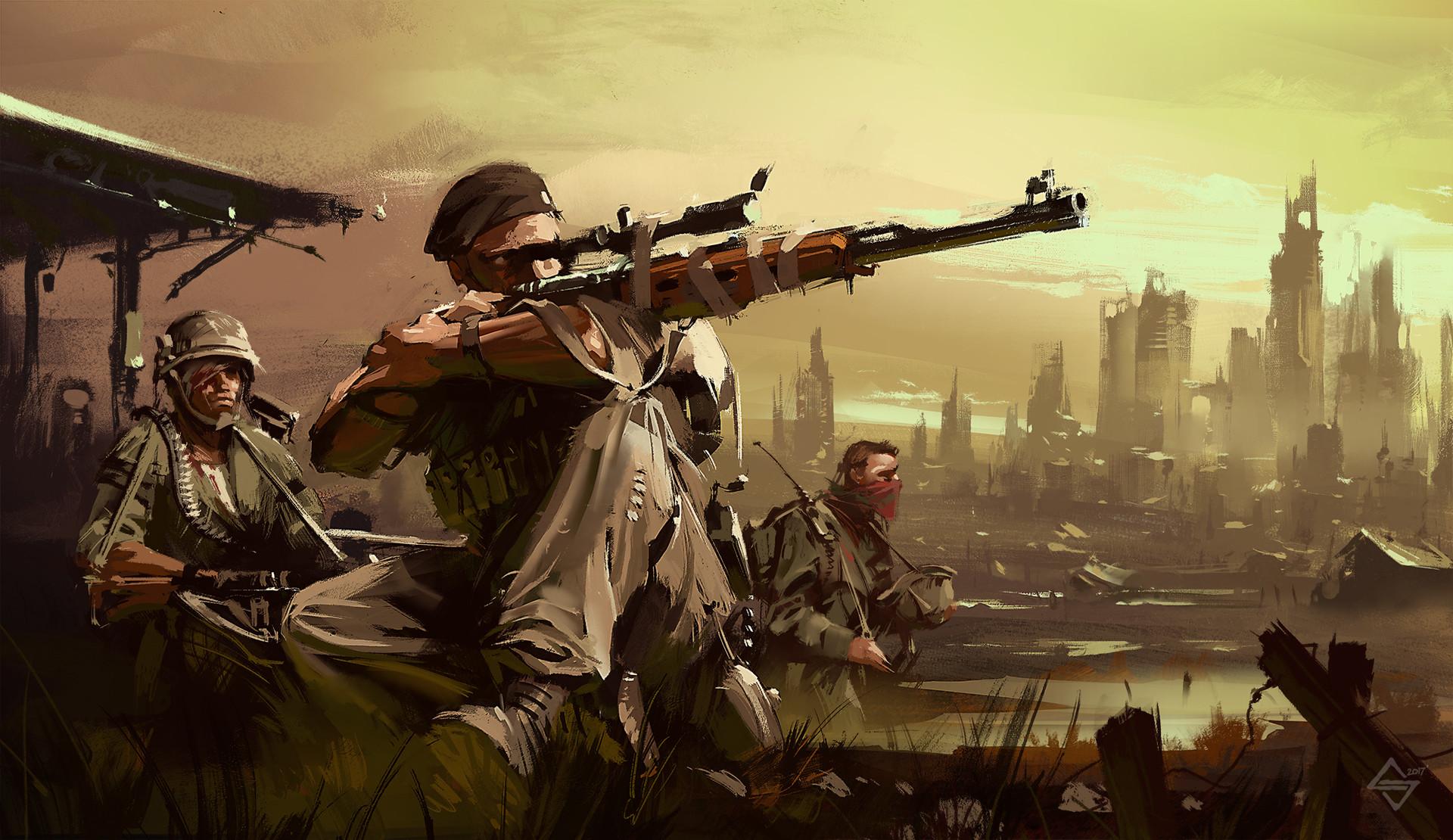 ArtStation - Fallout sniper, Michał Sztuka