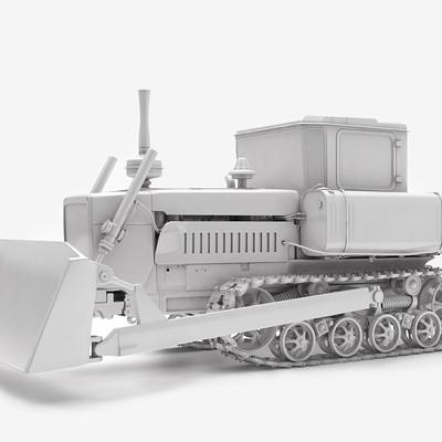 Serhii orlov 3d soviet tractor 0