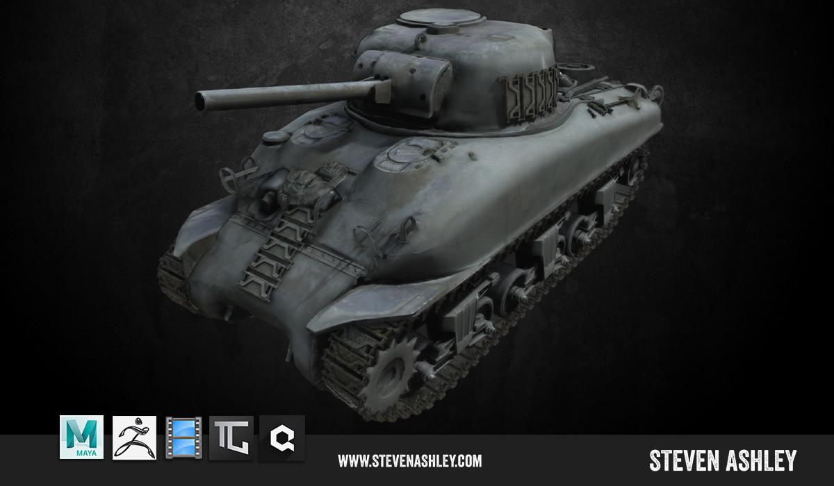 Front View Sherman Tank