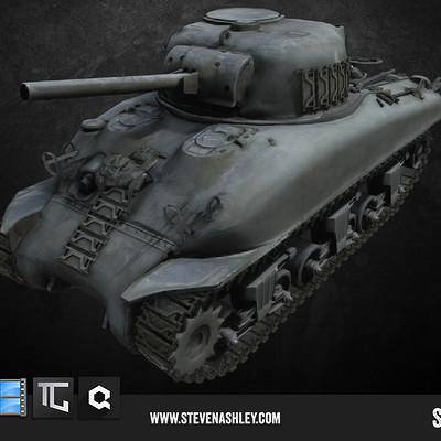Steven ashley sherman tank front