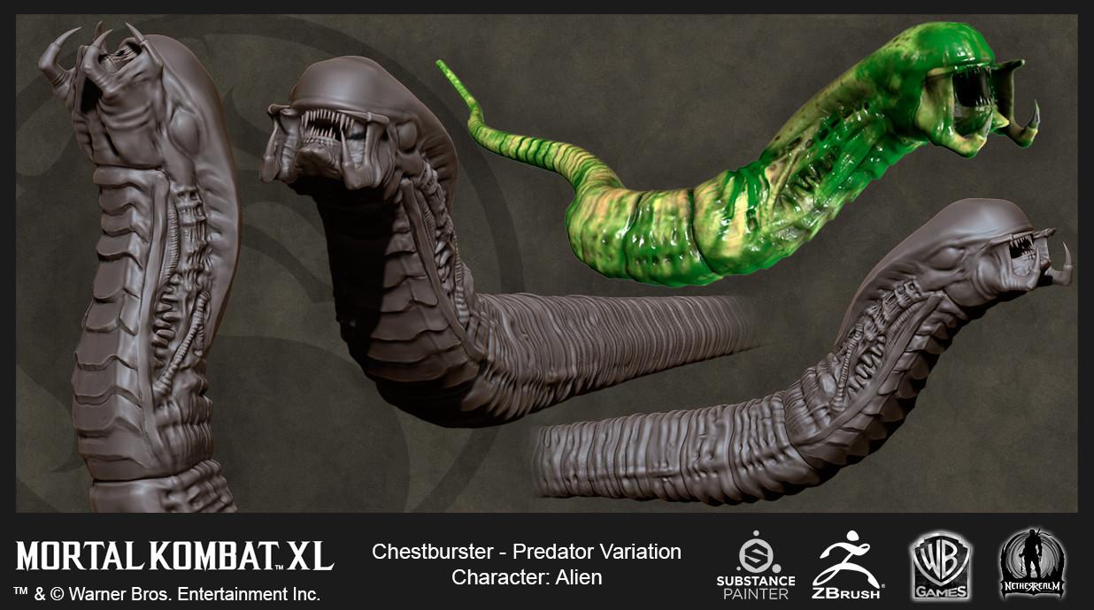 Alien Predator Variation Chestburster (High Res and In-Game)