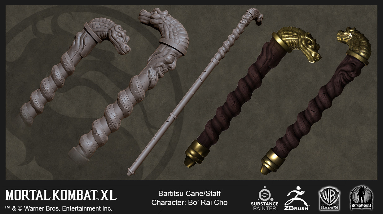 Bo' Rai Cho staff (High Res and In-Game)