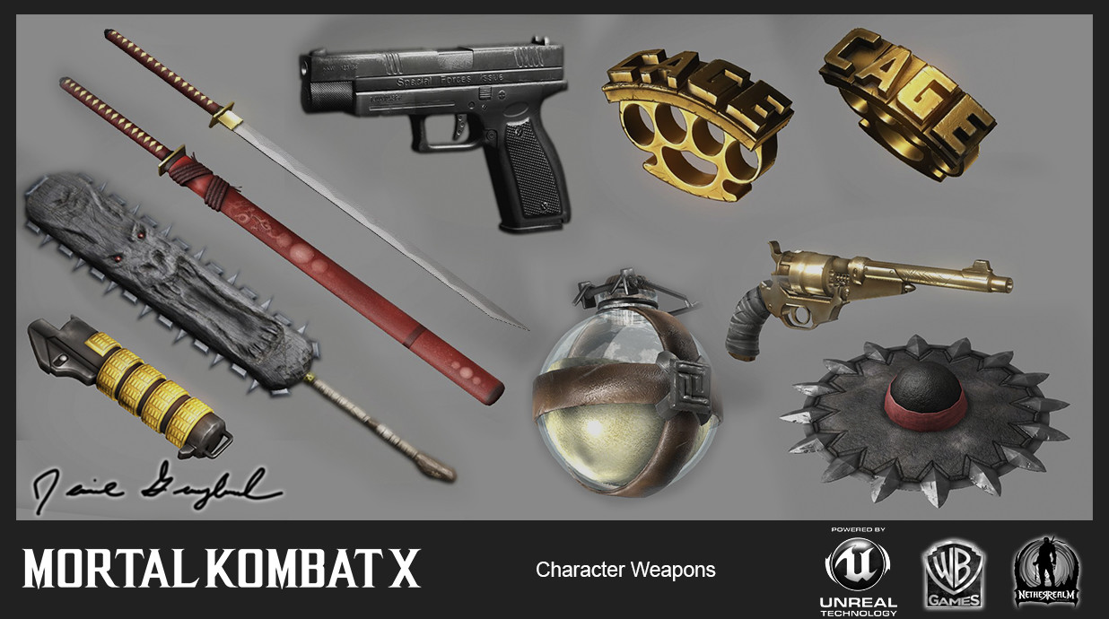 Various assortment of In-Game props/weapons.