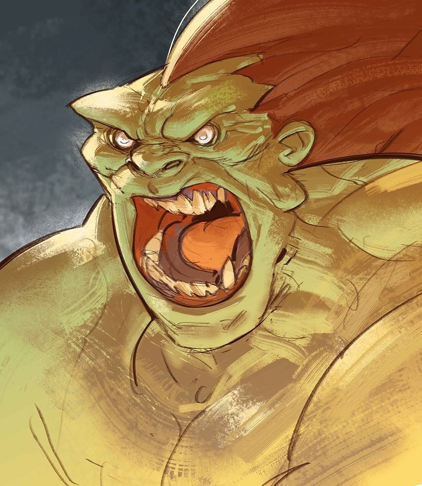 Back to some old brushes that I had forgotten, Blanka!