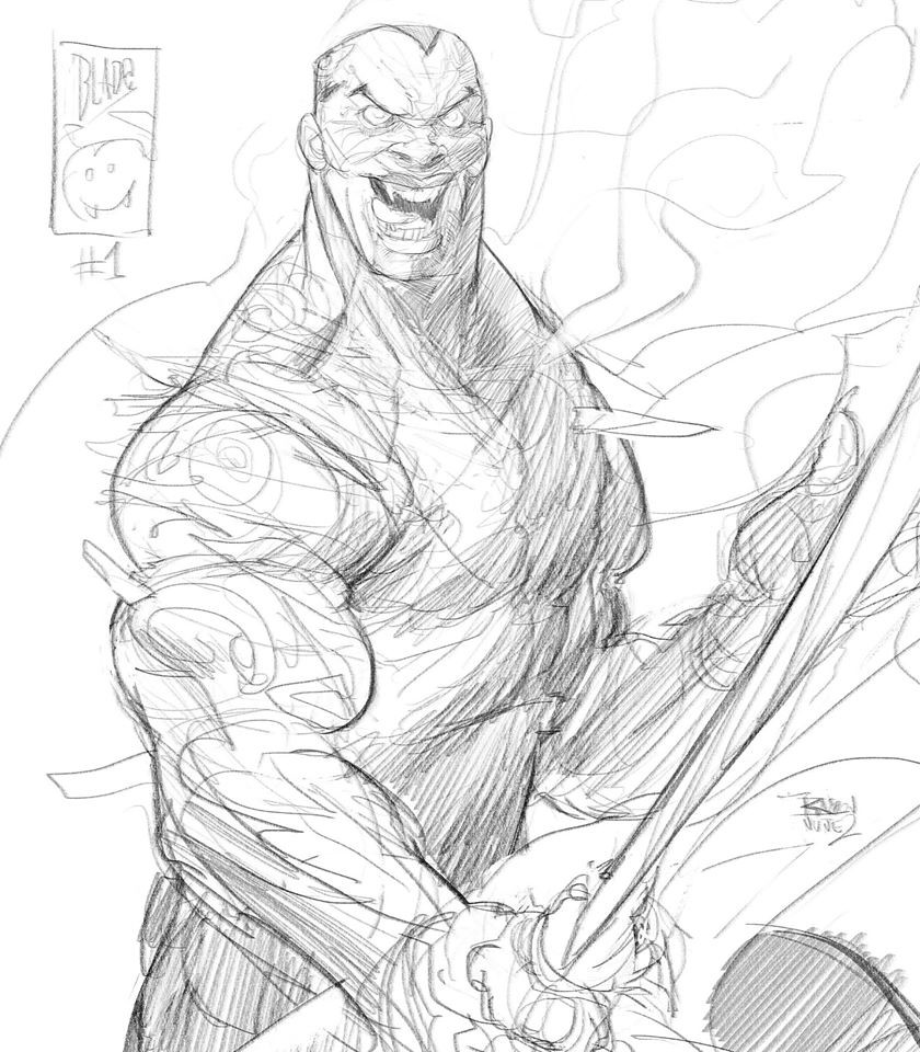 """Swords + Vampires = BLADE!! I drew like 100 """"comics"""" of this guy when I had like 8 years old"""